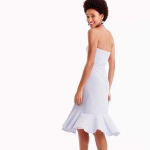J. Crew Dresses - NWT J Crew Blue Strapless Ruffle Hem Dress xs. 00